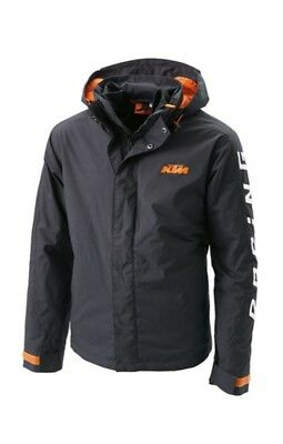 Ktm Men's Outdoor Jacket Black Logo Hooded Jacket Size X-Large $168 Now $119.99!