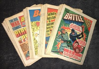 BATTLE ACTION COMIC - Almost Complete year 1978 - 7th Jan - 23rd Dec- IPC mags