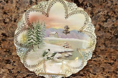 Beautiful RS Prussia Snowbird Plate SALE $499.00