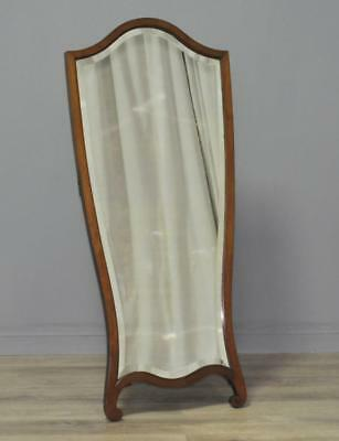 Attractive Neatly Sized Vintage Mahogany Floor Standing Cheval Mirror