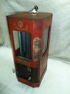 Vintage Select-O-Vend Coin Operated Candy/Gum Vending Machine~Circa 1940s WORKS