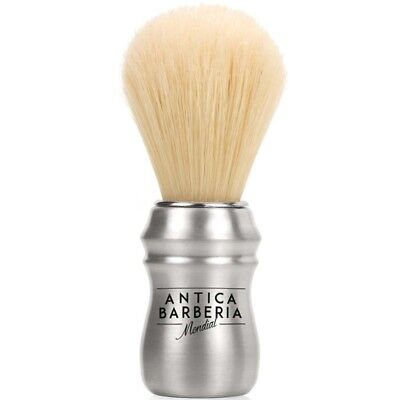 Antica Barberia Boar Shaving Brush Brushed Aluminium Handle