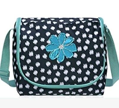 THIRTY-ONE☆GOING PLACES THERMAL☆ Navy Doodle Dot w/Daisy Icon☆New in Package
