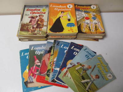 London Opinion And The Humoris: 51 Vintage Magazines Job Lot Mixed 1948-1953