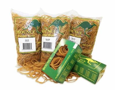 1 x 500g Bounce Rubber Bands No 32 Rubber Bands 75mm x 3mm Neutral Colour
