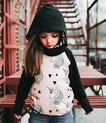 Kids Baby Girl Toddler Wind Outwear Coat Autumn Winter Jacket Clothes Age 0-5Y