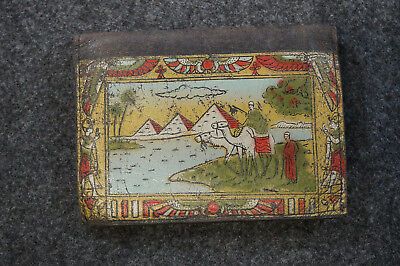 Antique Egyptian Revival Wallet Pyramids Camels Change Coin