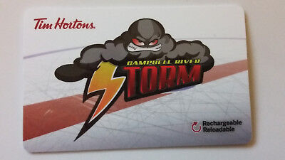Tim Horton's Gift Card Timcard Campbell River Storm 2017 FD57043