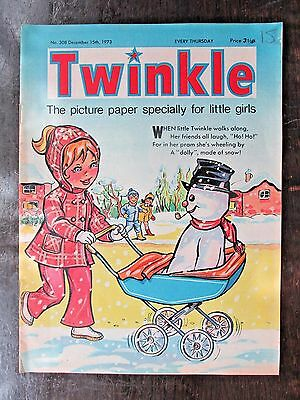 TWINKLE COMIC.  NO.308  DECEMBER 15th.  1973.  CHRISTMAS COVER!