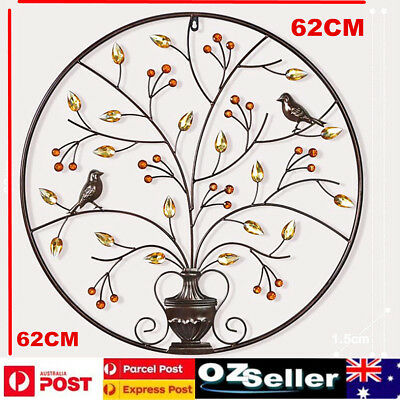 Brown Tree of Life Wall Art Hanging Metal Iron Sculpture Garden BIG 62cm