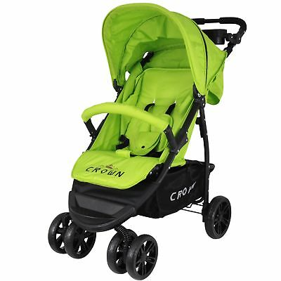 Crown Buggy Grün mit Liegeposition, Kinderwagen Sportbuggy Kinderbuggy Jogger