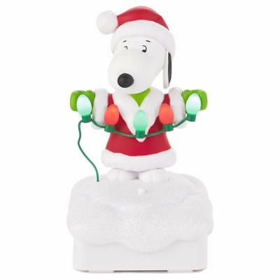 Hallmark  2015   SNOOPY  Peanuts Gang Christmas Light Show Music  Wireless   NWT
