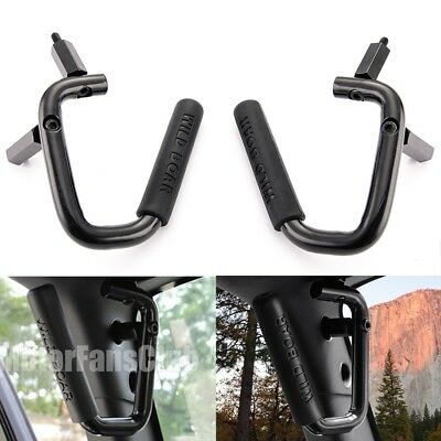 AU STOCK Black Front Grab Bar Handles For 2007-2017 Jeep Wrangler JK 2 & 4 Door