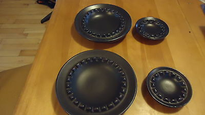 """mid century ashtray LOT  SET  BEAUCEWERE POTTERY TWO 9"""" TWO 5 1/4"""""""