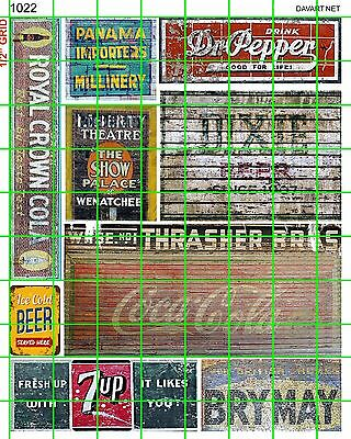 1022 DAVE'S DECALS GHOST SIGNS BUILDING SODA BEER ADVERTISING 30's 40's 50's ETC