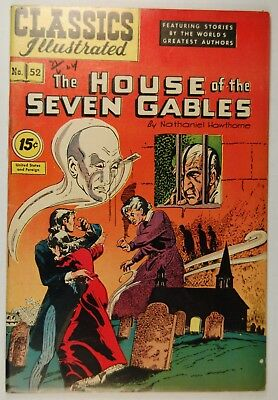 Classics Illustrated #52  - The House of the Seven Gables (Oct 1948, Gilberton)