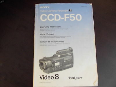 SONY CCD-F50 Instruction  HandyCam Manual