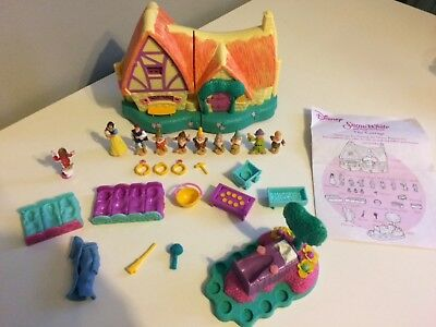 Disney princess snow white the cottage polly pocket playset 100% complete