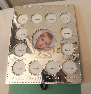 Carter Baby Infant Photo Frame by month to 1 Year  New Silver