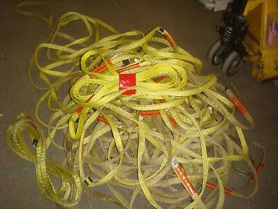 """LOT OF 3 used lifting  LIFT ALL STRAPS  1"""" X 8'  LIFTALL   free shipping"""