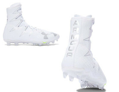 Under Armour Mens Highlight Football Cleats, White/Silver (1269693-102)