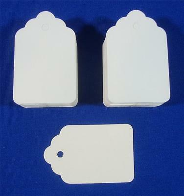 100 Blank White Unstrung Merchandise Price Tags #5