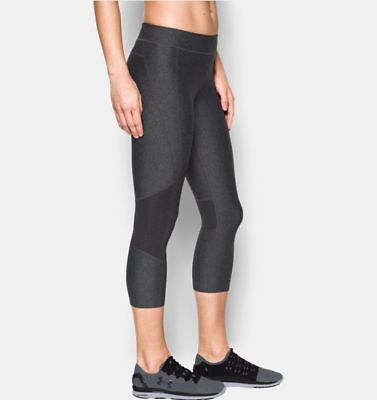 Under Armour 1297907 Crop Pant - Womens Large - Carbon Heather - NEW!!