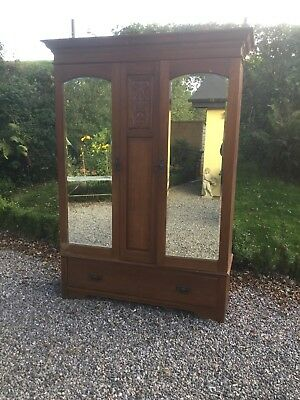 Antique Mirrored Double Wardrobe