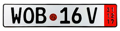 VW Wolfsburg Red Export German License Plate by Z Plates wtih Unique Number NEW