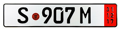 Mercedes Porsche Stuttgart Red Export German License Plate - Unique Number NEW