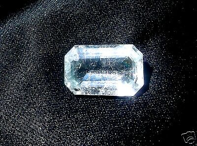 Aquamarine Santa Maria Faceted Emerald Cut 9.15 Carats Brazil