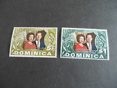 Dominica  1972 Sg 366-367 Royal Silver Wedding Mnh