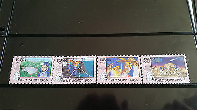 Uganda 1986 Sg 544-547 Appearance Of Halleys Comet (2Nd Issue) Mnh