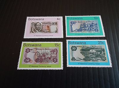 Botswana 1976 Sg 362-365 National Currency Mnh