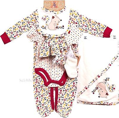 Lily & Jack 7 Piece Baby Woodland Girls Layette Clothing & Toy Gift Set  AW'17