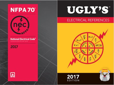 NFPA 70 2017 National Electrical Code NEC Paperback and Ugly's References 2017
