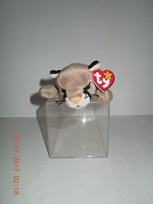 MNWT Retired Ty Canyon Cougar/Mountain Lion Beanie Baby DOB: May 29, 1998