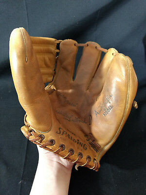 Vtg Collectible 1950s Spalding 1097 Baseball Glove Autograph Model Made In USA