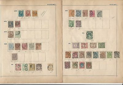 Netherlands Collection 1864 to 1910 on 3 Pages, Old Classics Lot