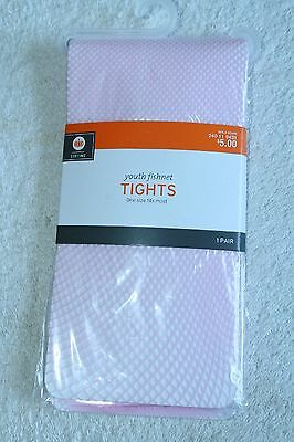 Girl's Pink Fishnet Tights One Size