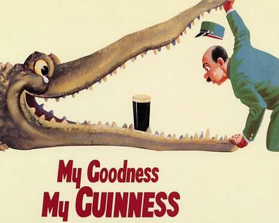 Guinness 8X10 Poster Alligator Zoo Keeper My Goodness My Guinness Beer 3101B