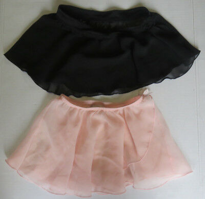 Bloch Black Semi Sheer & Danskin Pink Semi Sheer Dance Skirts Ballet Girls
