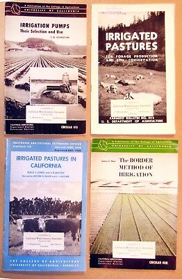 LOT OF 4 Vintage UC FARM IRRIGATION BROCHURES from c.1950 • RARE COLLECTION •