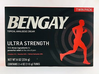 BENGAY Ultra Strength Topical Analgesic Pain Relieving Cream 4oz Tubes*Twin Pack
