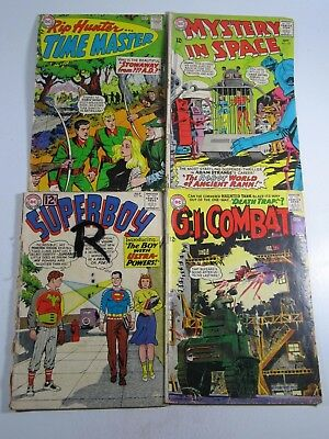 DC Silver 4 issue Lot-GI Combat 111,Rip Hunter 22,Superboy 98,Mystery Space 102