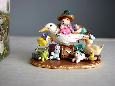 WEE Forest Folk Mother Goose 2009 Signed WP & DP Wonderful Detail Mint w/Box
