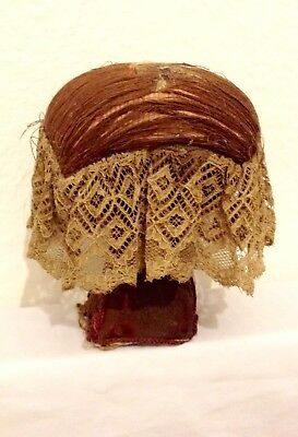 RARE Antique Victorian Lace Making Pillow / Pin Cushion on Original Stand