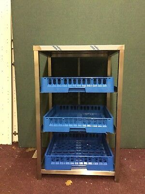 Stainless Steel Glass Storage Rack / Machine Stand Brand New