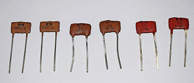 RS SILVER MICA CAPACITORS 56pF - SIX PIECES