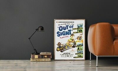 "Large Size 24""x32"" Out Of Sight Movie Poster - Corny Drive-In Movie & Rock Bands"